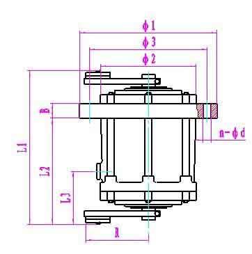 T05立式振动电机安装尺寸图